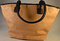 Женская сумка персиковая класическая из кожзама 012