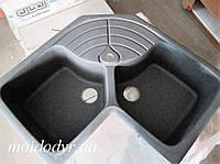 Гранитная кухонная мойка Elleci Master Corner grigio ambra 58