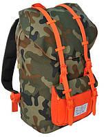 """Молодежный рюкзак с отделом для ноутбука 15,6"""", 25 л. Paso CM-190B камуфляж/красный"""