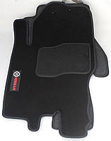 Коврики в салон текстильные Nissan Pathfinder 2004-2012 материал Ciak черн. гель вышивка (5шт/комп)