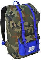 """Молодежный рюкзак с отделом для ноутбука 15,6"""", 25 л. Paso CM-190A камуфляж/синий"""