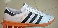 Мужские кроссовки Adidas Hamburg белые с черным,размеры с 41 по45