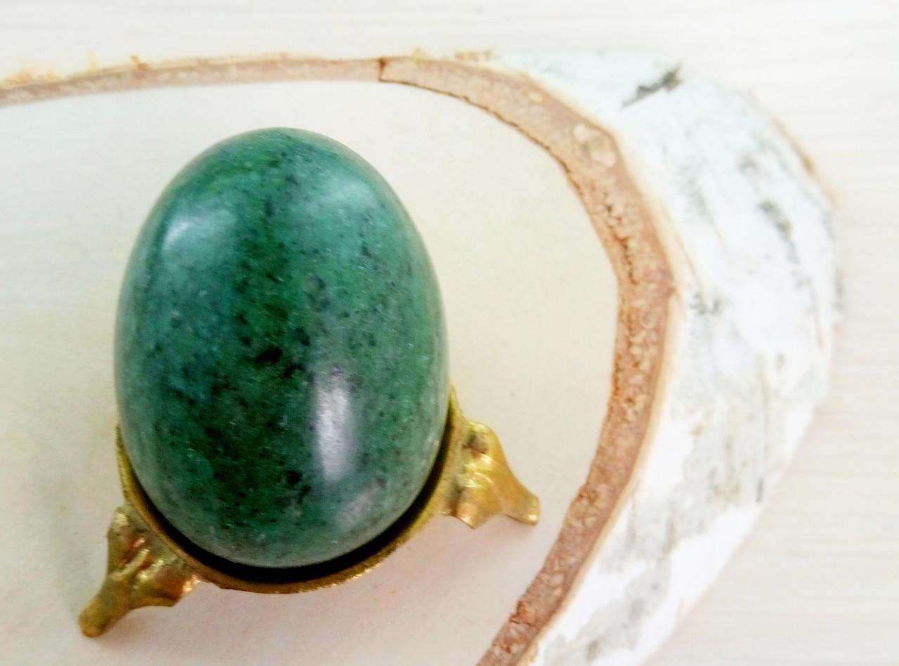 Яйцо 55 мм натуральный камень 2 (без подставки) (товар при заказе от 200 грн) - магазин-студия Цацки в Чернигове