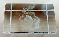 Дракон в стекле голограмма 75/47 мм