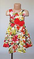 Красивое цветочное детское платье украшенное розами