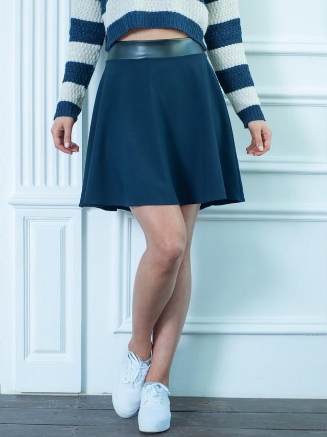 Синяя подростковая юбка