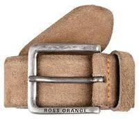 Ремень замшевый бежевый, Hugo Boss 95cm