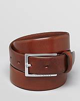 Ремень мужской кожаный коричневый, Hugo Boss 105cm