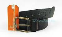 Ремень высококачественный кожаный мужской, Hugo Boss 90 cm