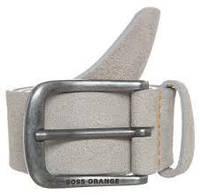 Ремень замшевый серого цвета, Hugo Boss 100cm