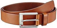 Ремень кожаный коричневый, Tommy Hilfiger 100cm!