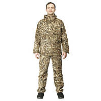 Куртка анорак камуфляжная охотничья FH камыш коричневый