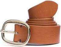 Ремень коричневый с овальной пряжкой, Tommy Hilfiger 95cm