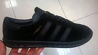 Мужские кроссовки Adidas Hamburg черные, размеры с 41 по 45
