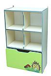 Шкаф детский ЗВЕРЮШКИ № 8 открытый с ящиком на 5 отделений, фото 2