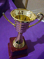 Кубок 17 см золото