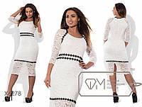 Женское батальное платье из гипюра, кружева и масла , фото 1