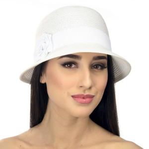 Женская шляпа  для лета цвет белый