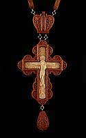 Крест наперсный наградной №6.1 (красное дерево)