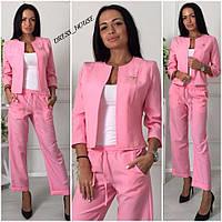 Модный костюм тройка брюки + пиджак+майка ( 4 цвета )