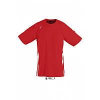 Спортивная футболка красного цвета,  пофессионального уровня SOL'S WEMBLEY от S до XXL