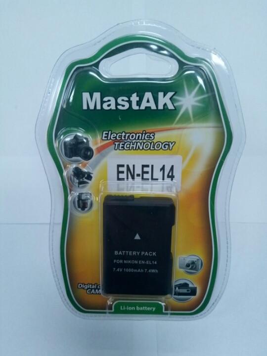 "Аккумулятор тм""MastAK""  Nikon EN-EL14 7,4V 1000mAh"