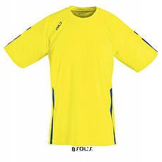 Спортивная футболка лимонного цвета,  пофессионального уровня SOL'S WEMBLEY от S до XXL