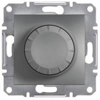 Диммер поворотный 40-600 Вт, сталь - Schneider Electric Asfora
