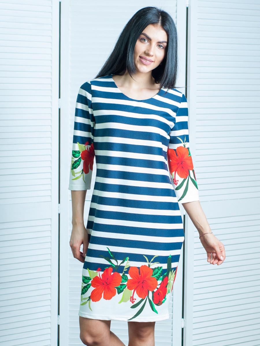 Женское повседневное летнее платье по колено 48,50,52