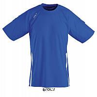 Спортивная футболка ярко-синего цвета,  пофессионального уровня SOL'S WEMBLEY от S до XXL
