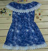 Летнее платье для девочки рост 134-164