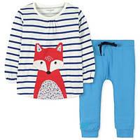 Весенний прогулочный комплект 2 в 1 для девочки от 9 месяцев до 7 лет (кофточка + штанишки, р. 74-120) ТМ Little Maven