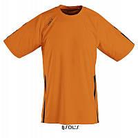 Спортивная футболка оранжевого цвета,  пофессионального уровня SOL'S WEMBLEY от S до XXL