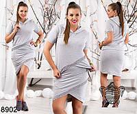 Костюм в спортивном стиле юбка+футболка декорированный камнями