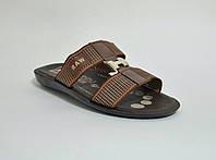 Мужские шлепанцы  пляжные коричневые, фото 1