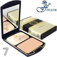Ffleur Пудра компактная 2в1 для лица Two Way Cake TK-12 Тон 07 натуральная песочная