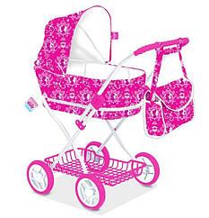 """Игрушечная коляска """"disney - princess"""" D1004P для кукол металлическая, зимняя, с сумкой, в пакете: 80х69х40 см Royaltoys"""