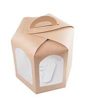 Коробка для кулича, пряничного домика, 130х130х130 мм., крафт