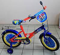 Детский велосипед Щенячий патруль двухколёсный сине-красный