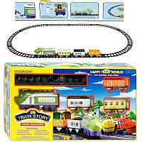 "Железная дорога 3022 ""Чаггингтон"" (24) звук, музыка, свет, 14 деталей, на батарейке, в коробке"