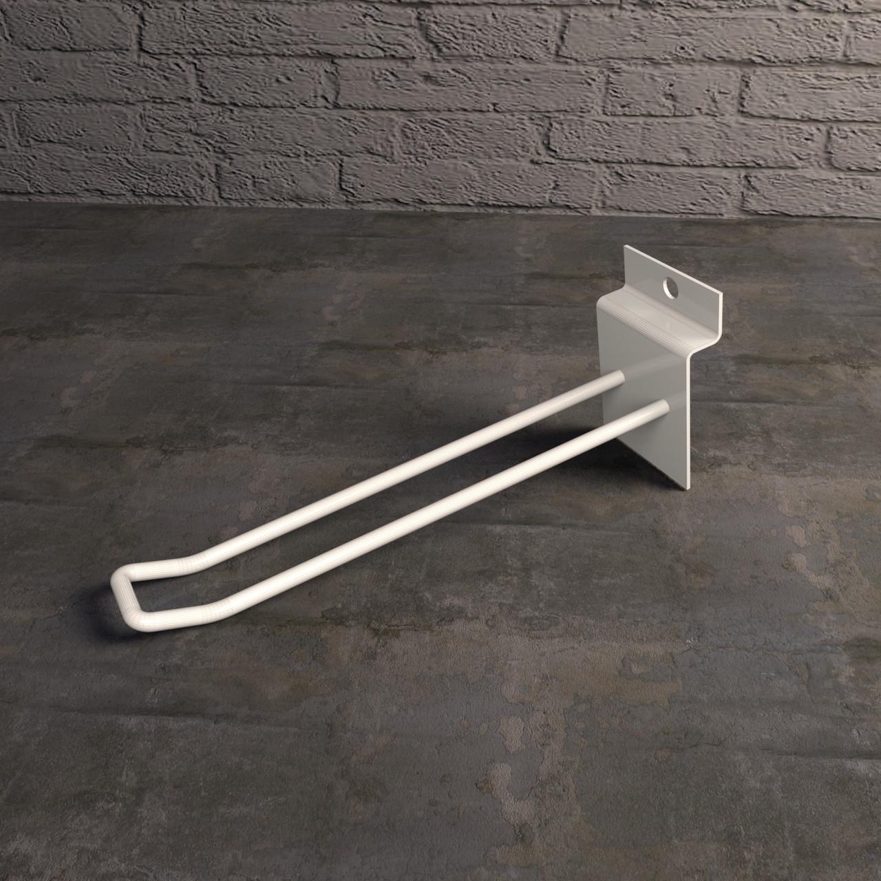 Крючки для экономпанелей | двухполосный белый 150 мм