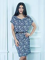 Стильное летнее платье Оливия украшено цветочным узором
