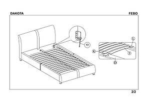 Кровать Dakota (Halmar), фото 2