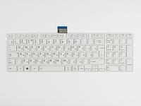 Оригинальная клавиатура для ноутбука TOSHIBA Satellite L850, L855, L870, P870, C850, C855, C870, White, RU, с рамкой