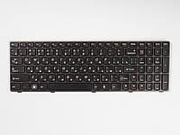 Оригинальная клавиатура для ноутбука LENOVO B580, V580, G580, G585, Z580, Z585, N580, N581, N585, Black, RU, фиолетовая рамка