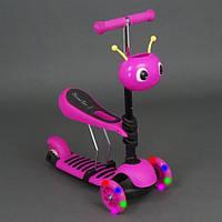 "Самокат - беговел ""Scooter"" розовый арт. 4115"