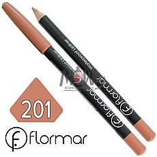 FlorMar - Карандаш для губ водостойкий Тон №201 nature матовый, фото 2