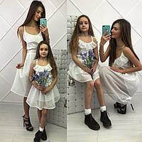 """Парные платья """"Мама и дочка"""" В20112, фото 1"""