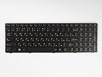 Оригинальная клавиатура для ноутбука LENOVO B580, V580, G580, G585, Z580, Z585, N580, N581, N585, Black, RU черная рамка