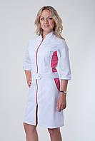 Медицинский халат 3113 (коттон) розовый, фото 1